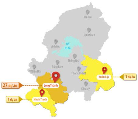 Đồ họa thể hiện số lượng dự án đất nền mà Công ty cổ phần địa ốc Alibaba (TP.Hồ Chí Minh) rao bán nhưng chưa được cấp phép trên địa bàn tỉnh Đồng Nai. Thông tin: Nguyệt Hạ - Đồ họa: Lam Phương